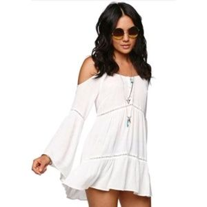 Kendall & Kylie Cold Shoulder Bell Sleeve Blouse